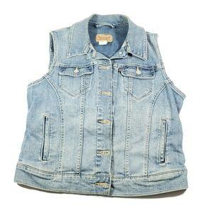 Levi's womens size Large denim jean sleeveless